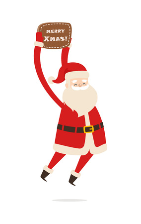 Jumping Santa Claus with Table Merry Christmas