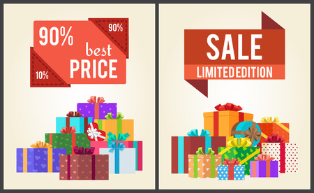 90 Best Price Limited Edition Total Sale Shop Now flyer template Vector illustration.