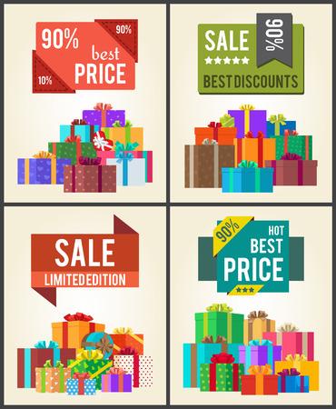 90 Best Price Limit Edition Super Discount Vector illustration. Illustration