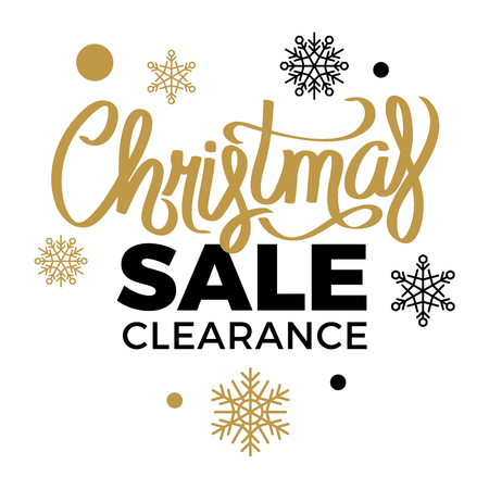 Winter Discounts. Christmas Sale Clearance Logotype Stock Photo