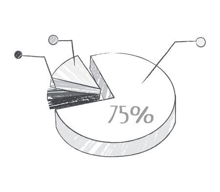 Graphic with Percentage on Vector Illustration 스톡 콘텐츠