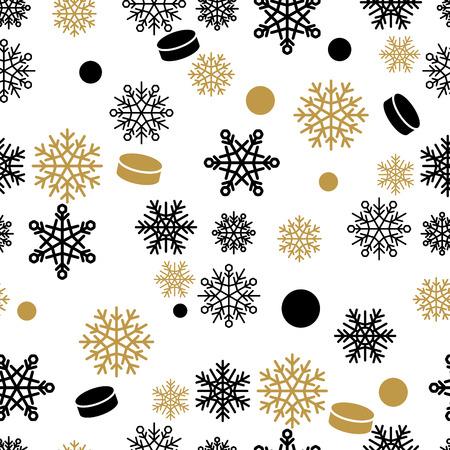Snowflakes and Cake Vector Seamless Pattern Reklamní fotografie - 100059277