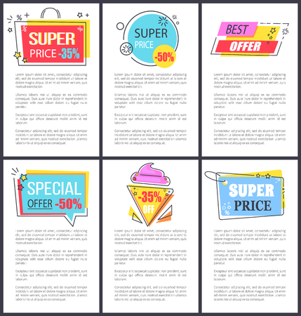 Special Offer and Super Price Vector Illustration Stock Photo