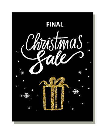 Final Christmas Sale Banner Vector Illustration