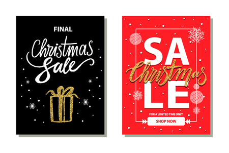 Christmas Sale Limited Time Vector Illustration Stock Photo