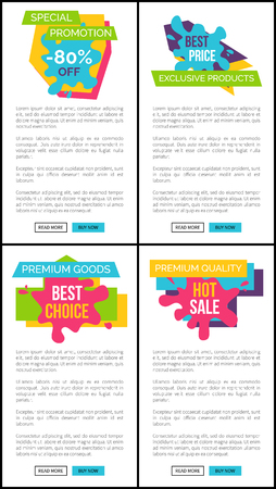 Set Of Price Labels Special Promotion Web Posters