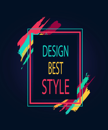 Design Best Style Rectangular Bright Border Icon