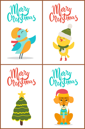 Merry Christmas and Images Vector Illustration.