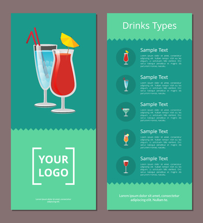 Drink Types Advertisement Poster Design Alcohol