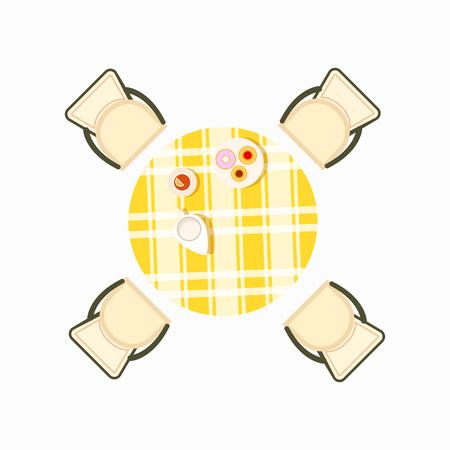 Served Dining Table Icon Vector Illustration Foto de archivo - 100218536