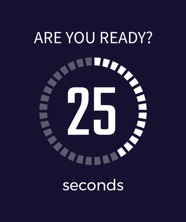 Are You Ready Timer Seconds on Vector Illustration Stock Illustratie