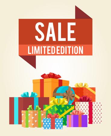 Sale Limited Edition Shop Now Poster Advert Label Illustration