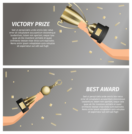 Victory Prize and Best Award Web Banners