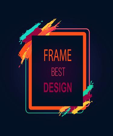 Frame Best Design Rectangular Bright Border Icon