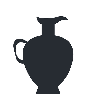 Closeup of Clay Jug Isolated Vector on White Stock fotó - 100229997