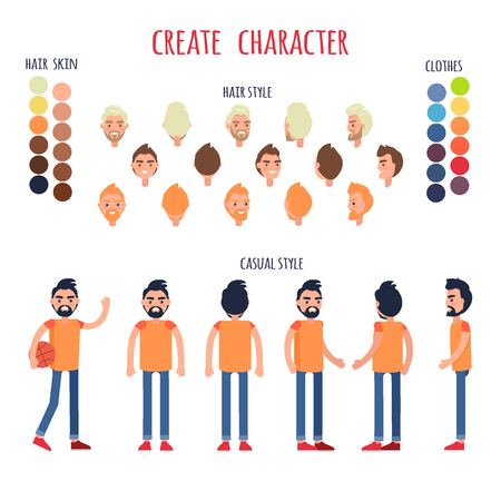 Create Character Vector Banner in Casual Style