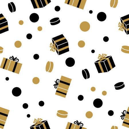 Holiday Presents Vector Seamless Pattern