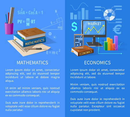 Mathematics and Economics Subjects Info Poster