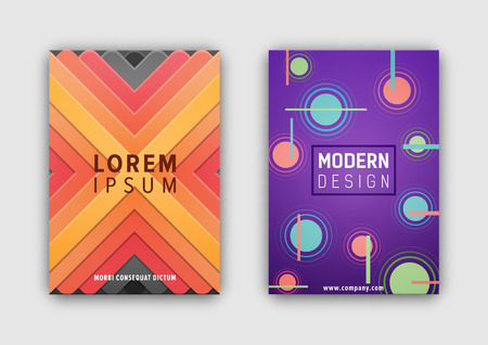 Modern Design Covers Set Vector Illustration