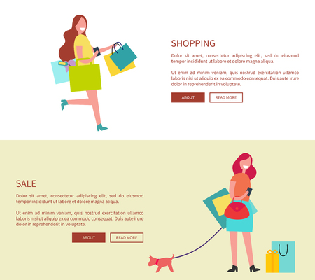 Shopping and Sale Design on Vector Illustration