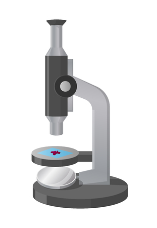 Microscope View from Left Isolated Illustration Imagens - 100393390