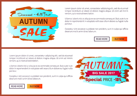 Autumn Discount -45 clearance with Icon on Poster Reklamní fotografie