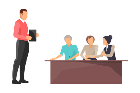 Business Train Boss Workers Vector Illustration Stock Photo