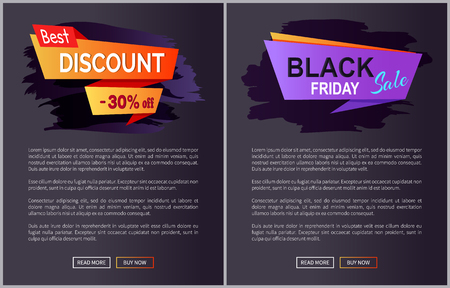 Black Friday Sale and Discount Vector Illustration Stock Photo