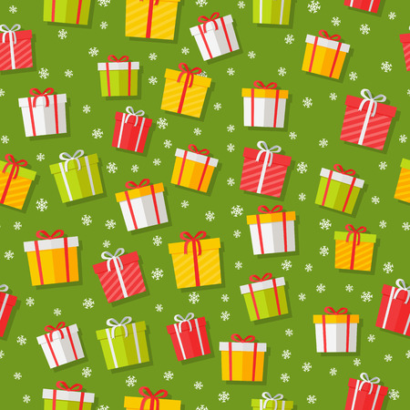 Wrapped Gifts Seamless Patterns Vector Foto de archivo - 100362570