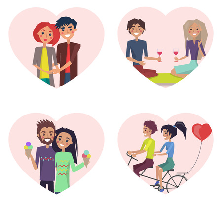 Couples in Love Happiness Vector Illustration Illustration