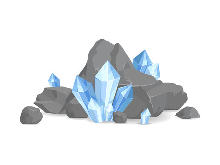 Rocks and Minerals Collection Vector Illustration Illustration