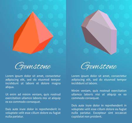 Sharp Natural Gemstones on Vertical Promo Posters