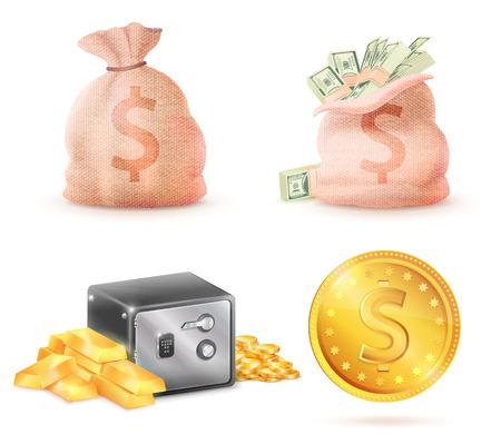 Sack Full of Money Stock Vector - 100987836
