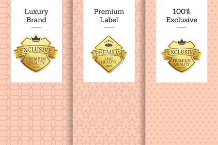 Luxury Brand Premium Label 100 Exclusive Emblem