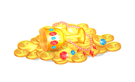 Treasure Coins and Cup Poster  Illustration Illustration