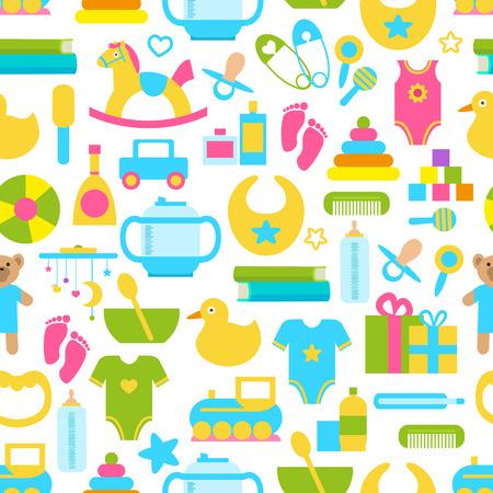 Toys for Children Set Pattern Vector Illustration