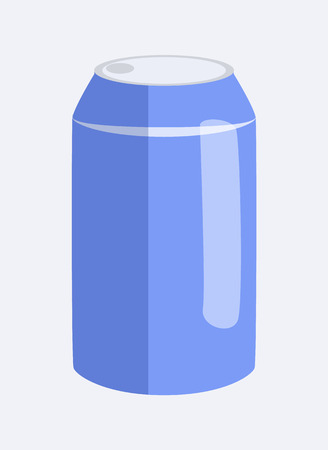 Can of Soda and Beverage, Vector Illustration