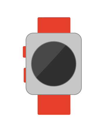 Watch with Buttons Poster Vector Illustration