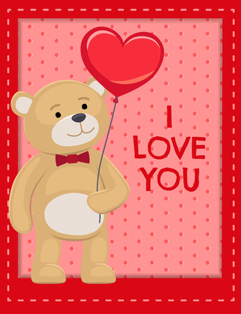 I Love You Poster Adorable Teddy Cute Bear Animal