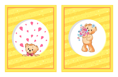 Teddy bears cartoon posters