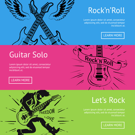 Let s Rock n Roll Guitar Solo Set of Posters