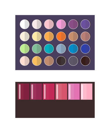 Make Up Palette of Eyeshadow Vector Illustration