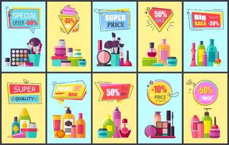 Special Offer for Cosmetic Means and Makeup Tools