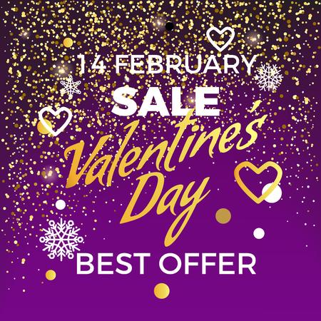Valentine s Day 14 February Sale Best Offer Illusztráció