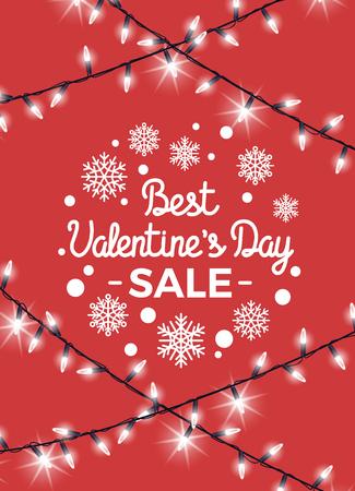 Best Valentine s Day Sale Vector Illustration Illusztráció
