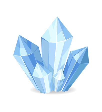 Organic Mineral Crystalic Precious Stones Vector Illustration