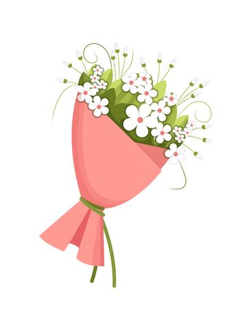 Bouquet for Wedding Season Vector Illustration Illustration