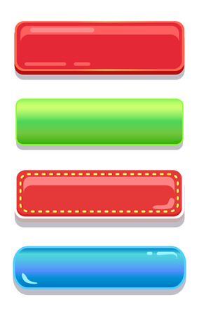 896289f30f560 Colorful editable navigation buttons vector illustration collection glossy  web icons with place for text set of