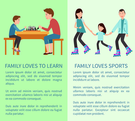 Family Loves to Learn and Sports Bright Cards