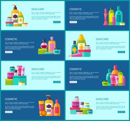Skincare Cosmetics Promotional Internet Posters Çizim